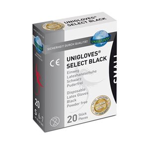 Unigloves Select Black Gloves Small Pack L