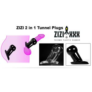 Zizi Black Hole Tunnel Small Clear (ZZ14C)