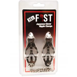 M&K Mr Fist Nipple Clamps Chrome