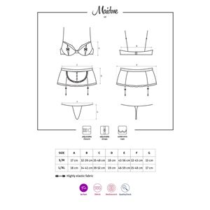 Obsessive Maidme Set 5-pcs S/M