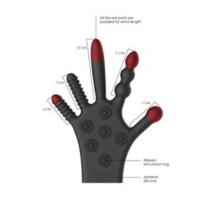 Fist-It Silicone Stimulation Glove Black (FST011BLK)