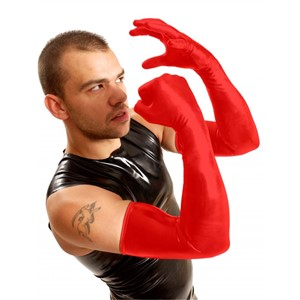 M&K Shoulder Rubber Gloves Red M